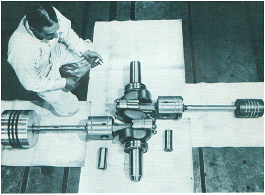 A Worthington Engineer Inspecting A Client's Cranks Shaft.